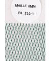 Tête Epuisette 1/2 lune Maille 8mm vert